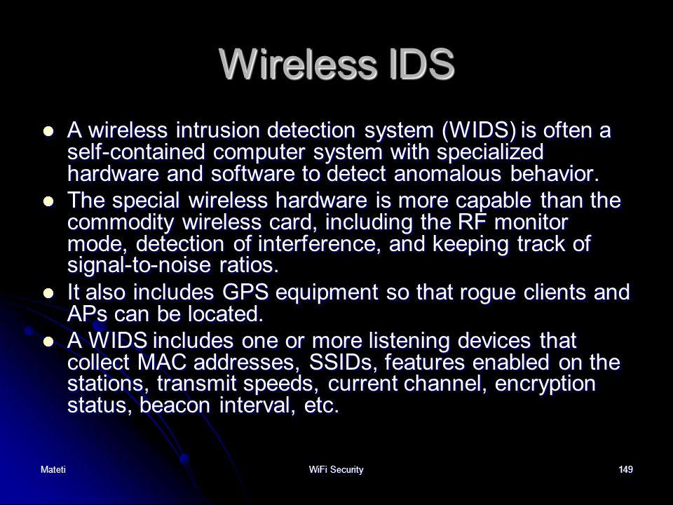 Wireless IDS