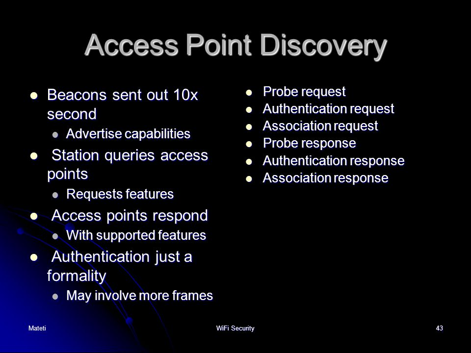 Access Point Discovery