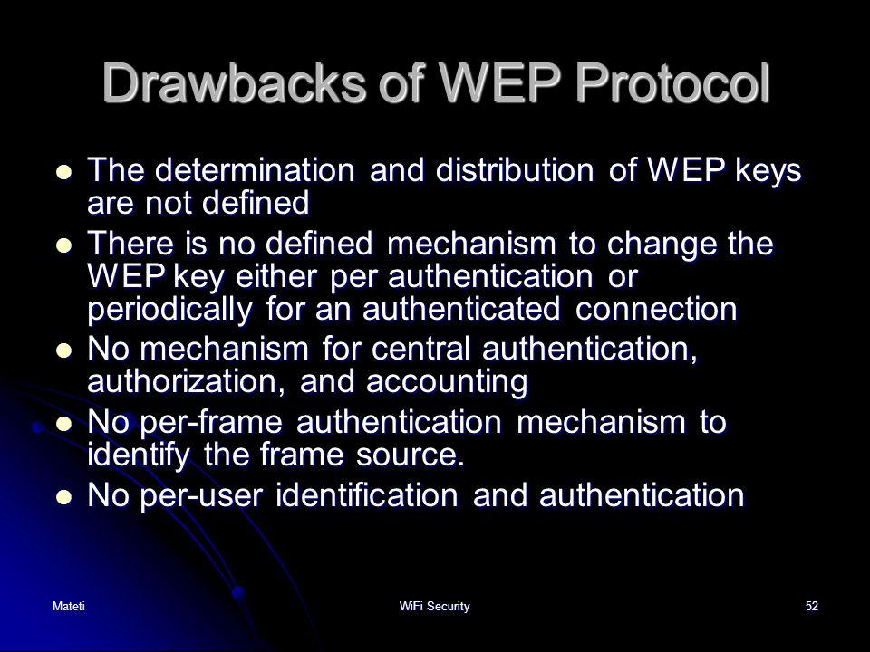 Drawbacks of WEP Protocol