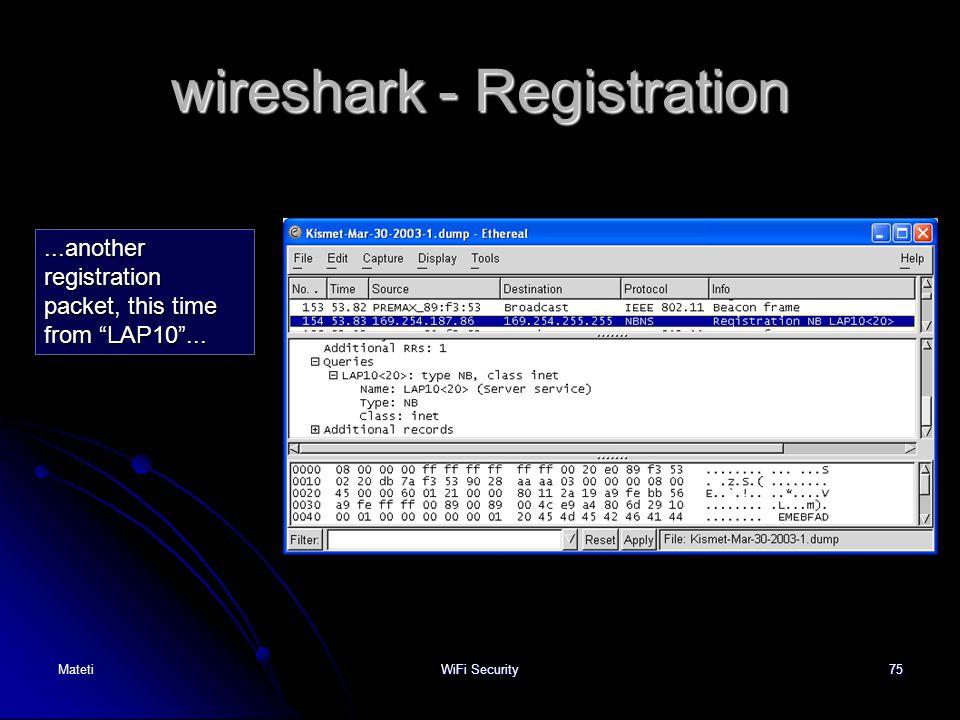 wireshark - Registration