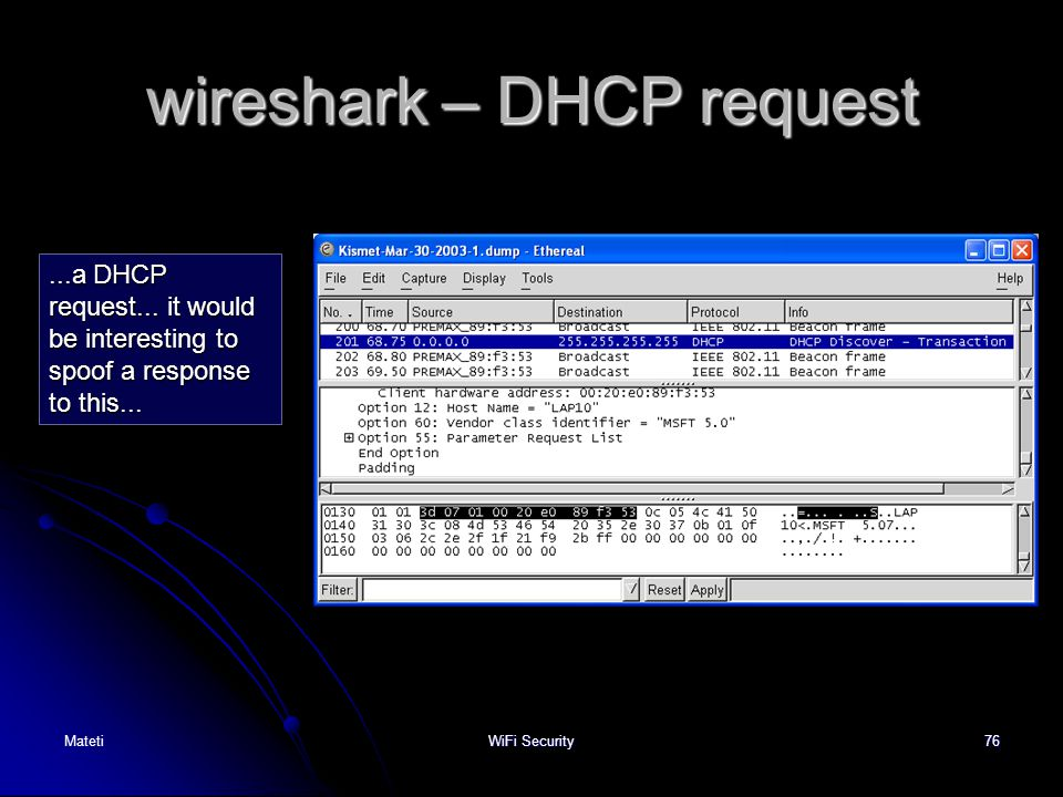 wireshark – DHCP request