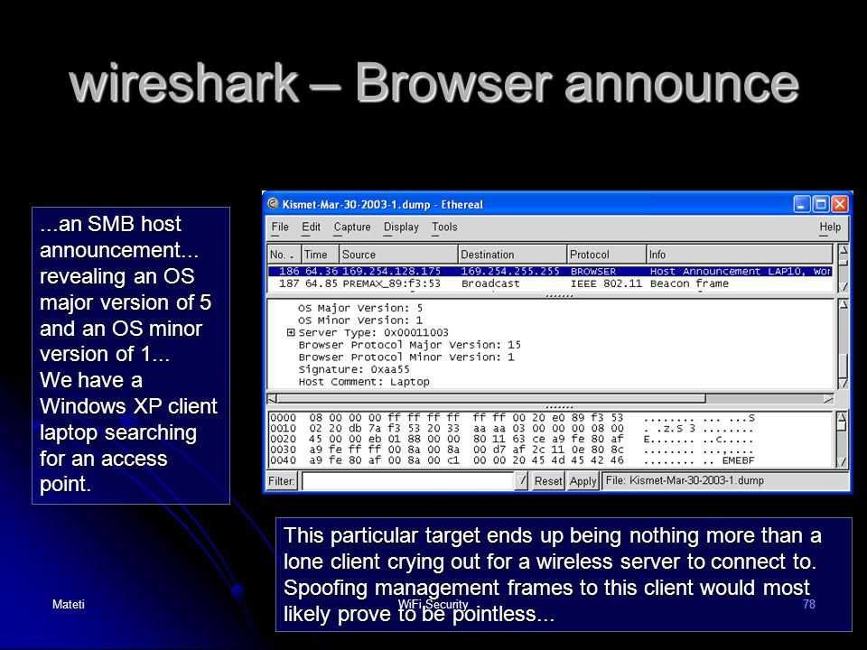 wireshark – Browser announce