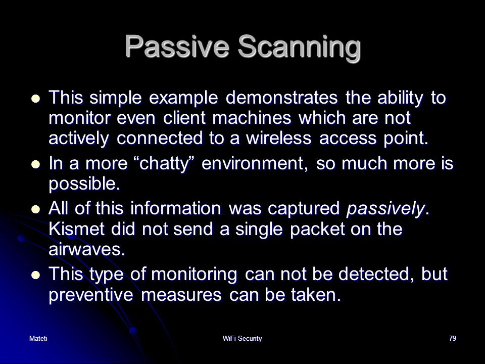 Passive Scanning