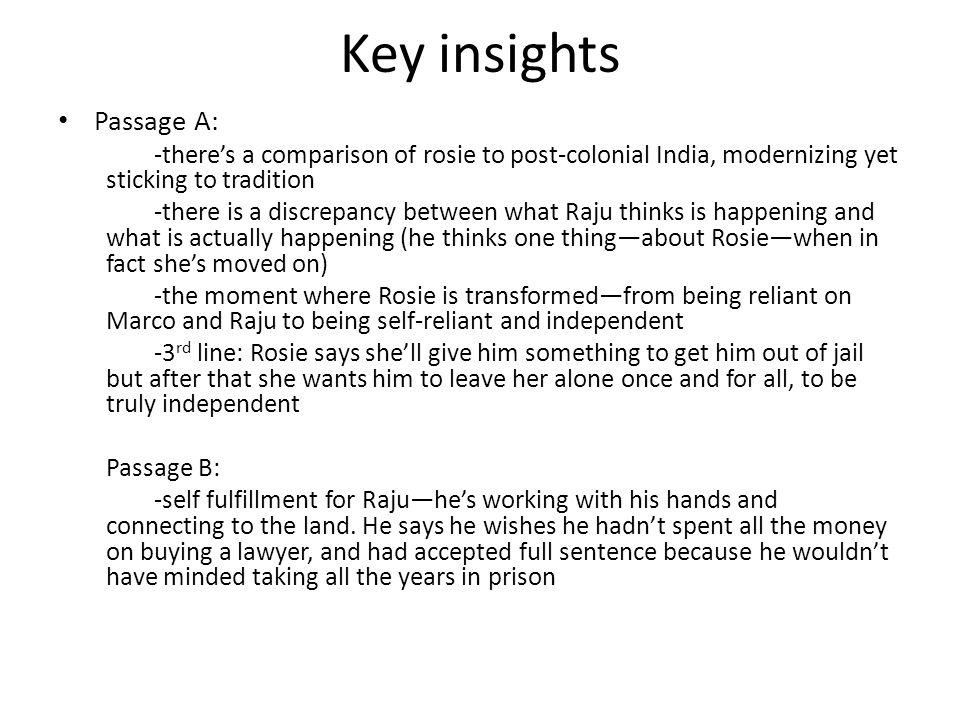 Key insights Passage A: