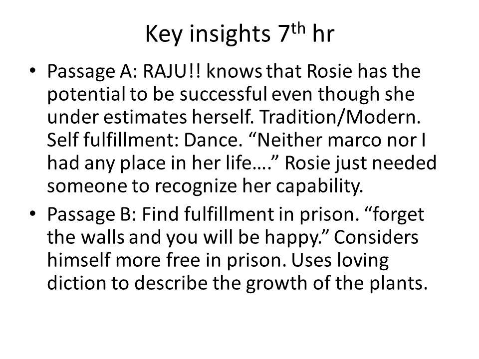 Key insights 7th hr