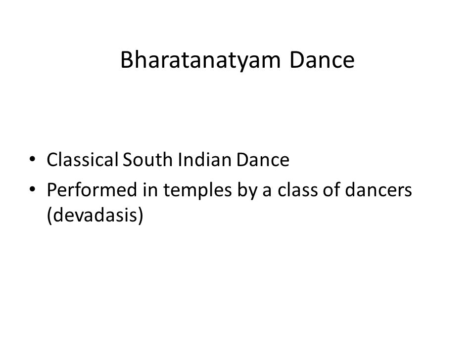 Bharatanatyam Dance Classical South Indian Dance