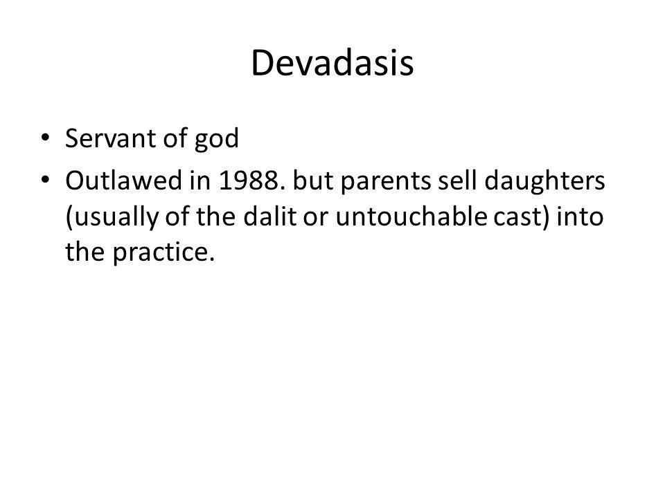 Devadasis Servant of god