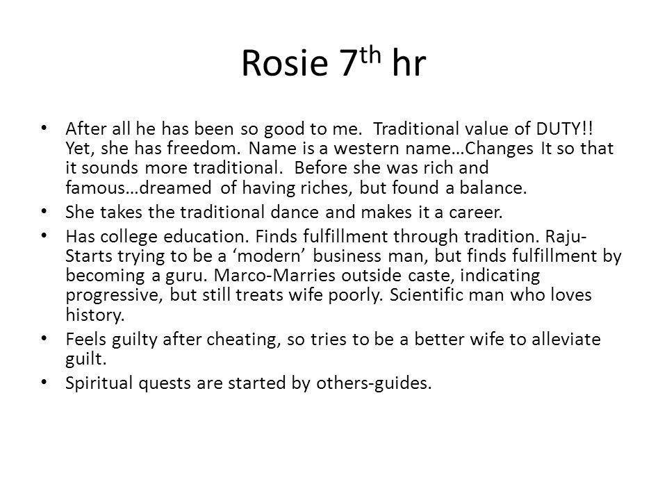 Rosie 7th hr