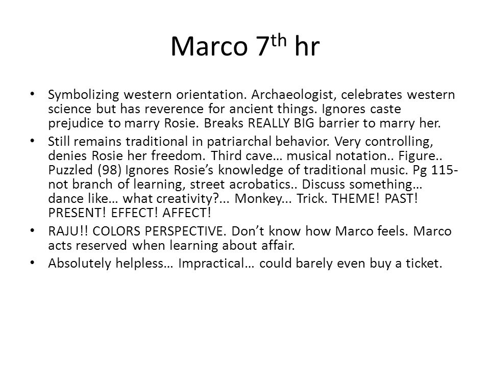Marco 7th hr