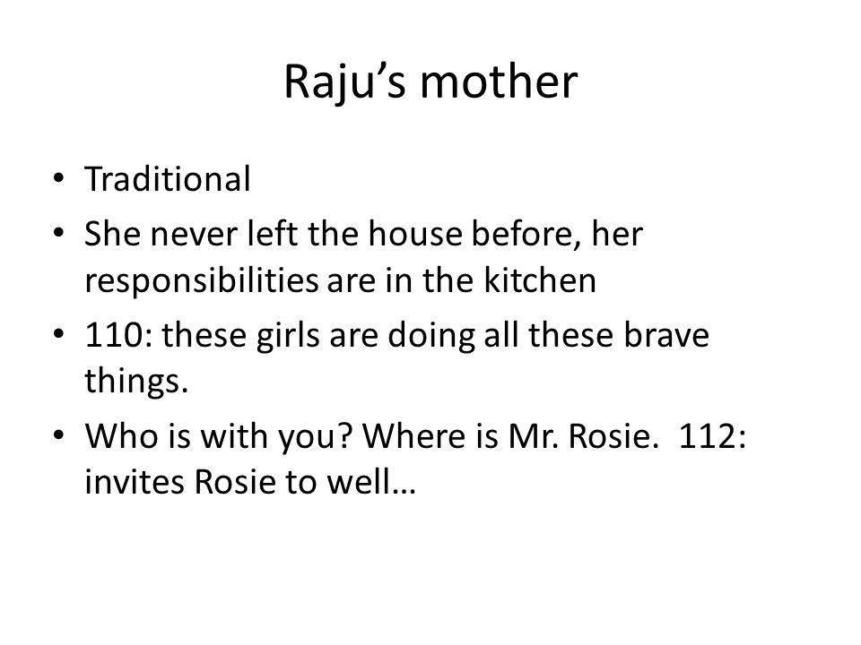 Raju's mother Traditional