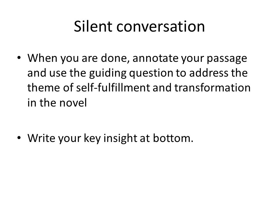 Silent conversation