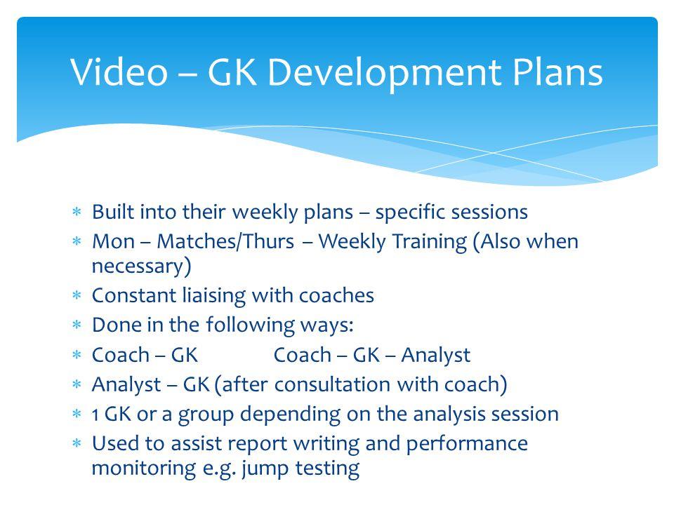 Video – GK Development Plans