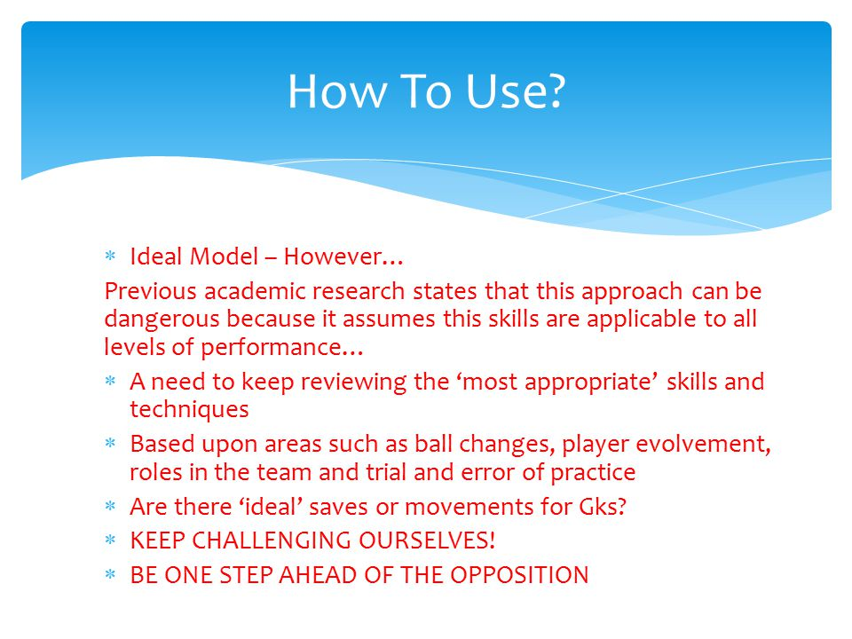 How To Use Ideal Model – However…