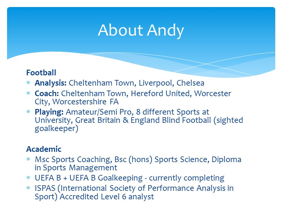 About Andy Football Analysis: Cheltenham Town, Liverpool, Chelsea