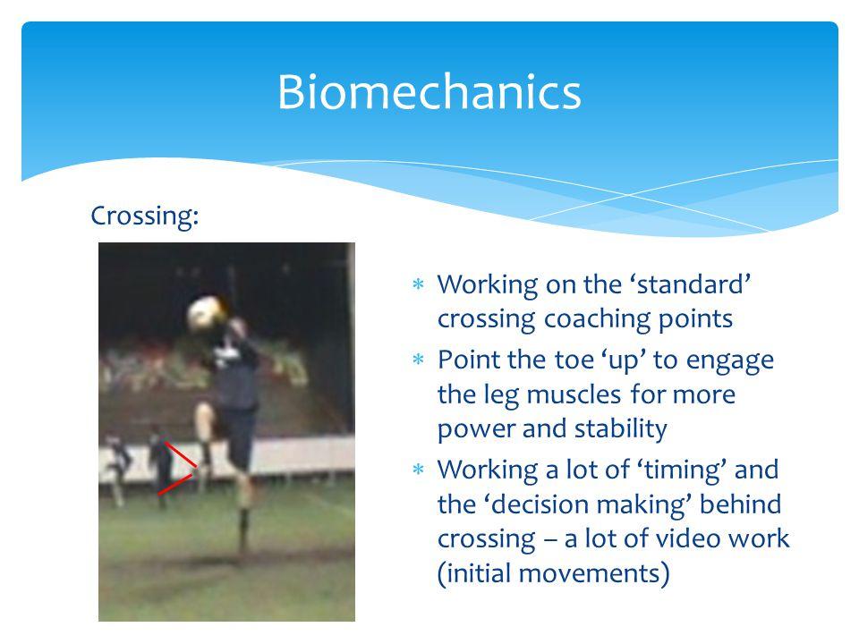 Biomechanics Crossing:
