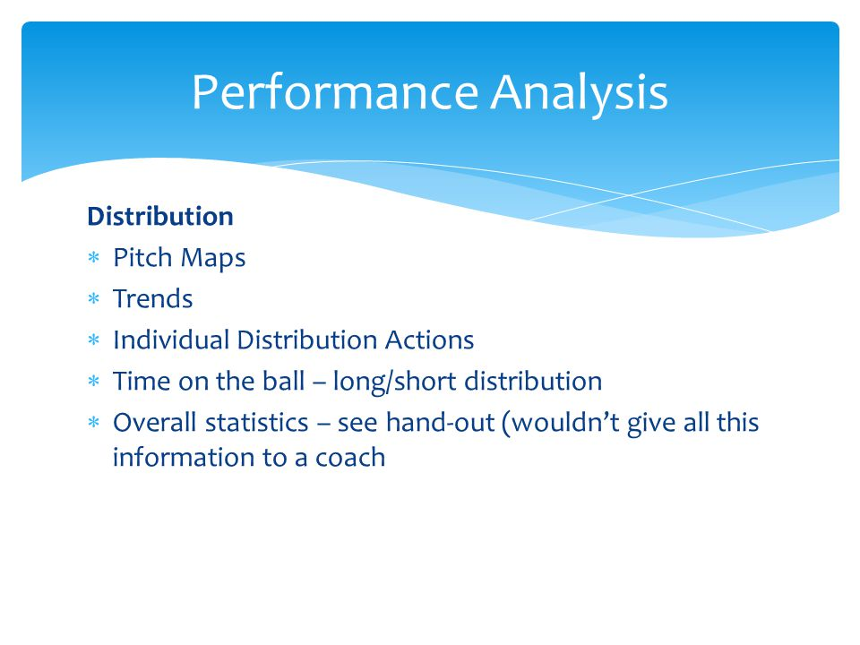 Performance Analysis Distribution Pitch Maps Trends