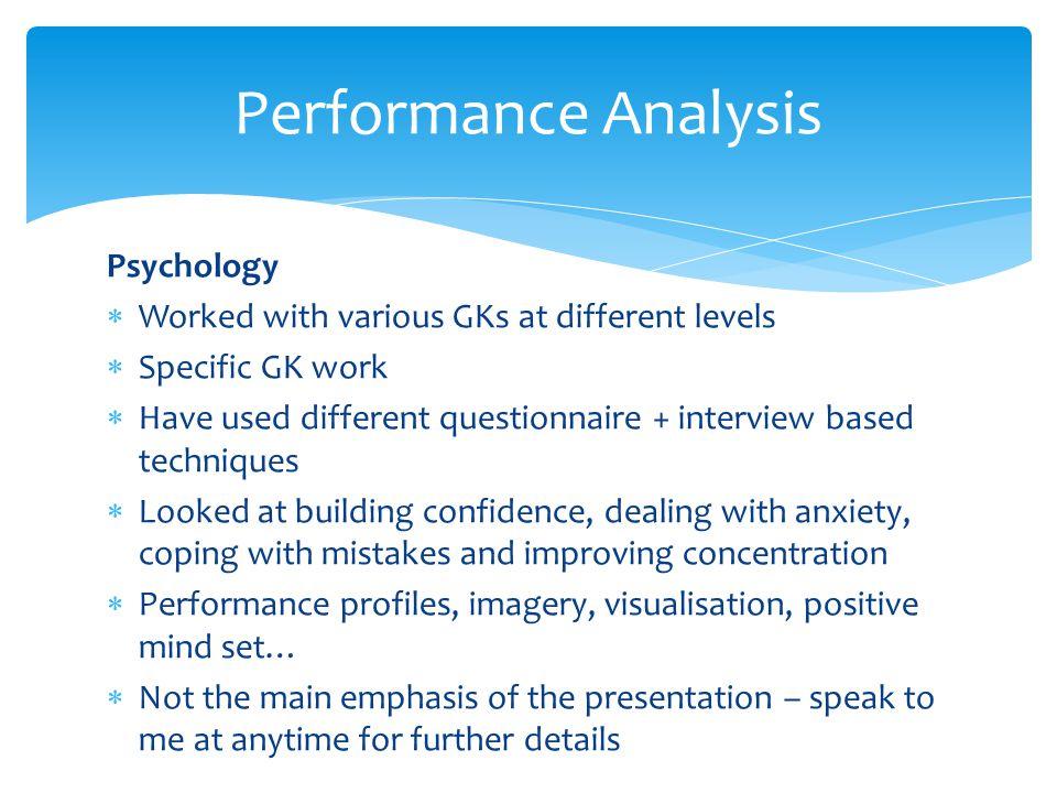 Performance Analysis Psychology