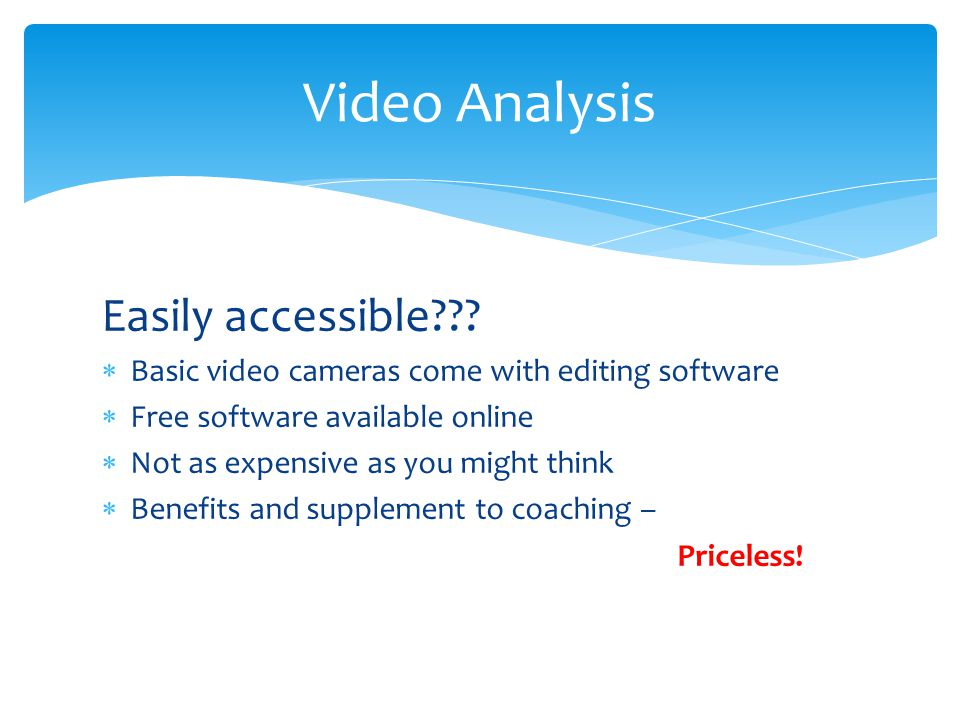 Video Analysis Easily accessible