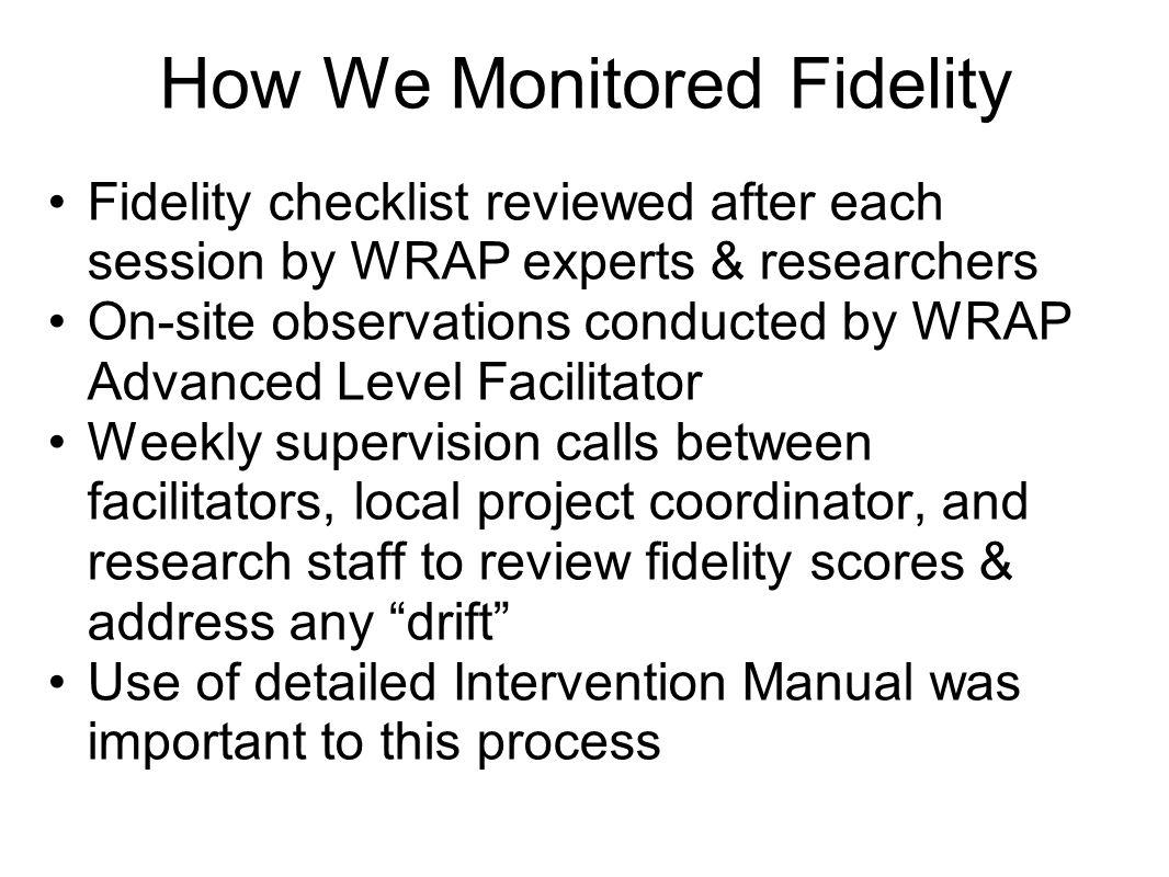 How We Monitored Fidelity