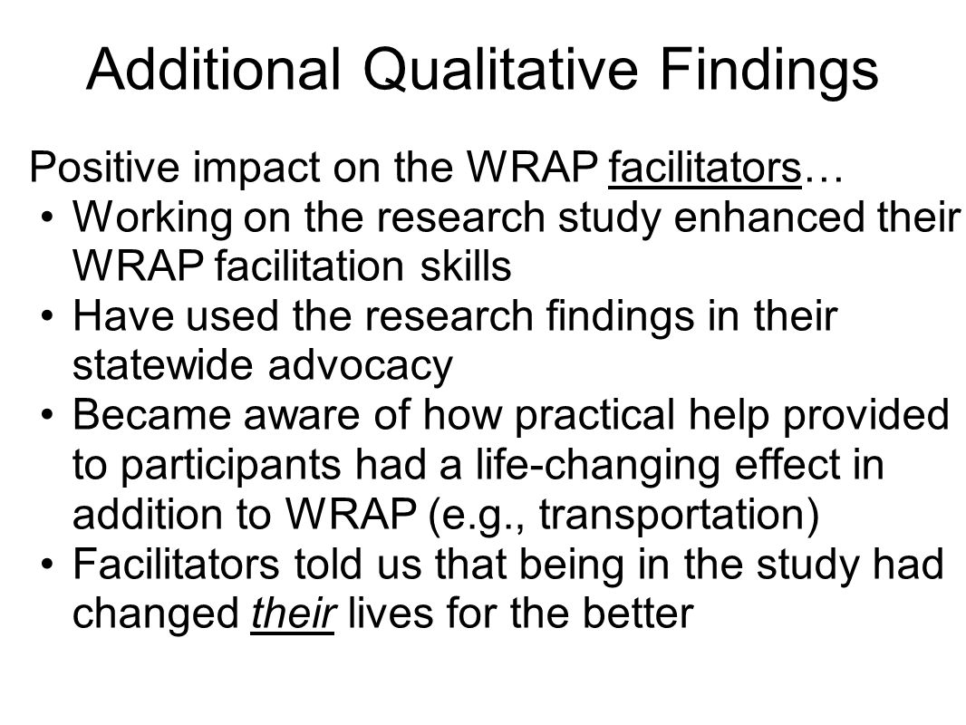 Additional Qualitative Findings