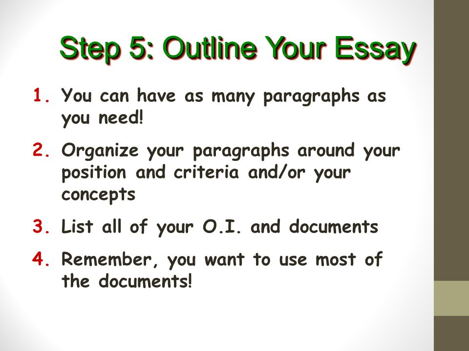 Step 5: Outline Your Essay