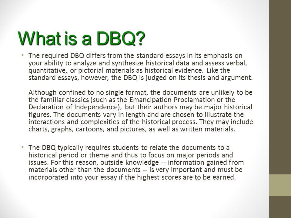 What is a DBQ