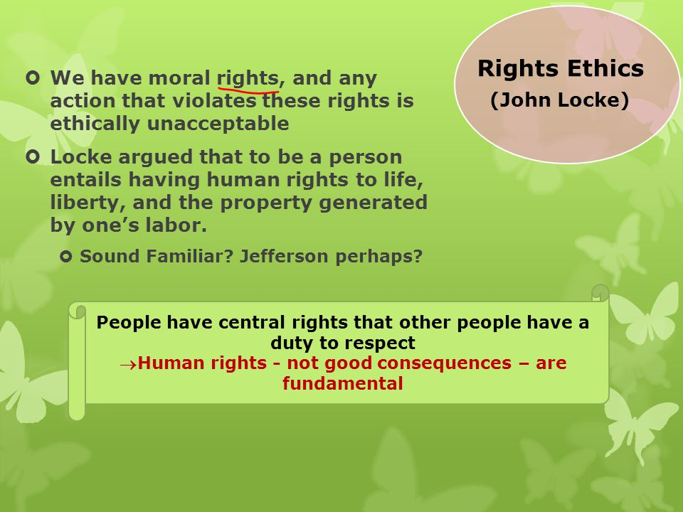 Rights Ethics (John Locke)