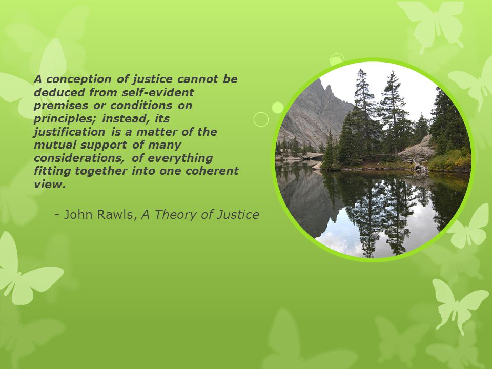 - John Rawls, A Theory of Justice