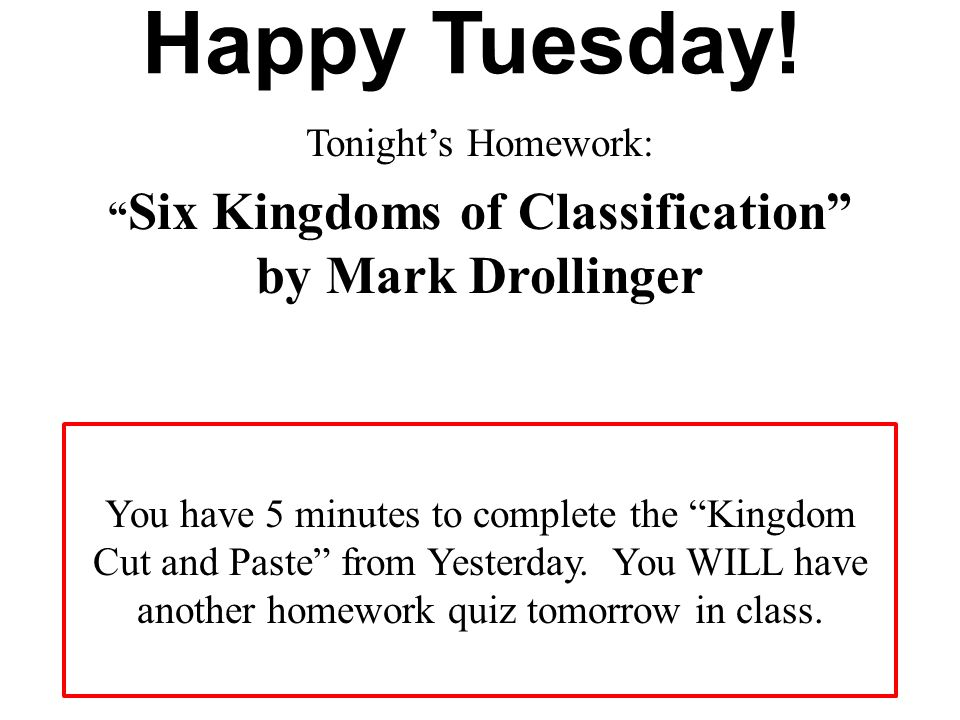 Six Kingdoms of Classification by Mark Drollinger