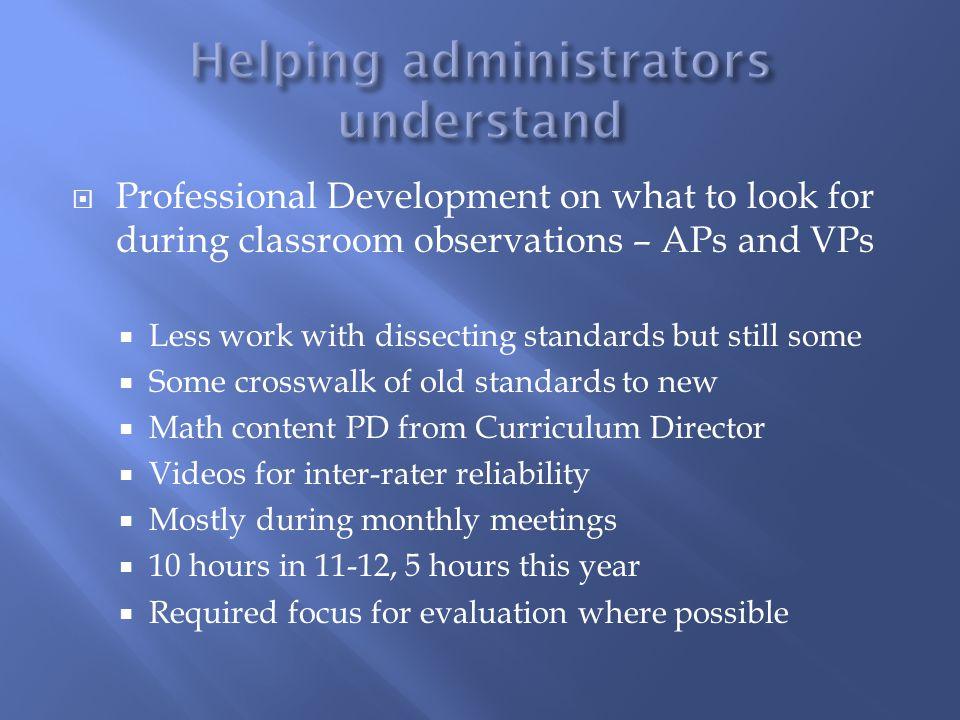 Helping administrators understand