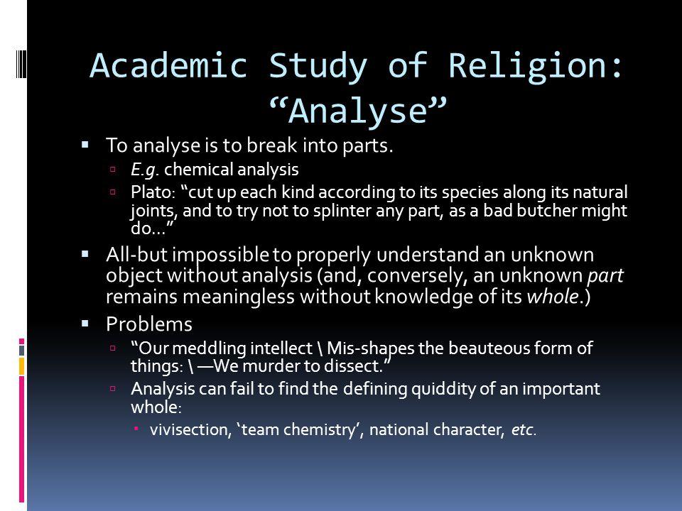 Academic Study of Religion: Analyse