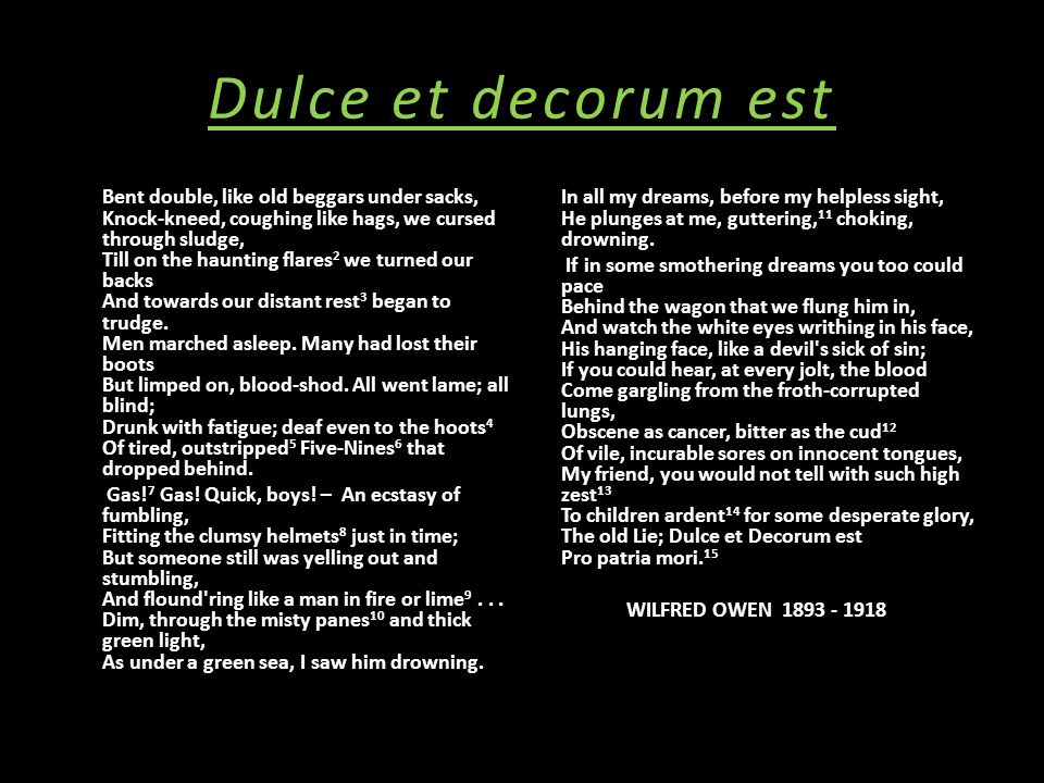 Poetry notes ppt download for Decorum meaning
