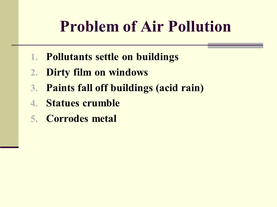 Problem of Air Pollution