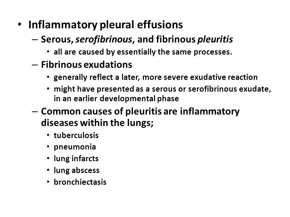 Inflammatory pleural effusions
