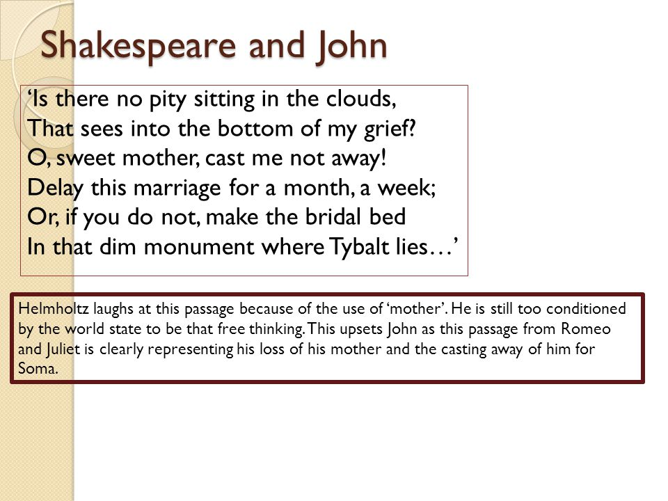 Shakespeare and John