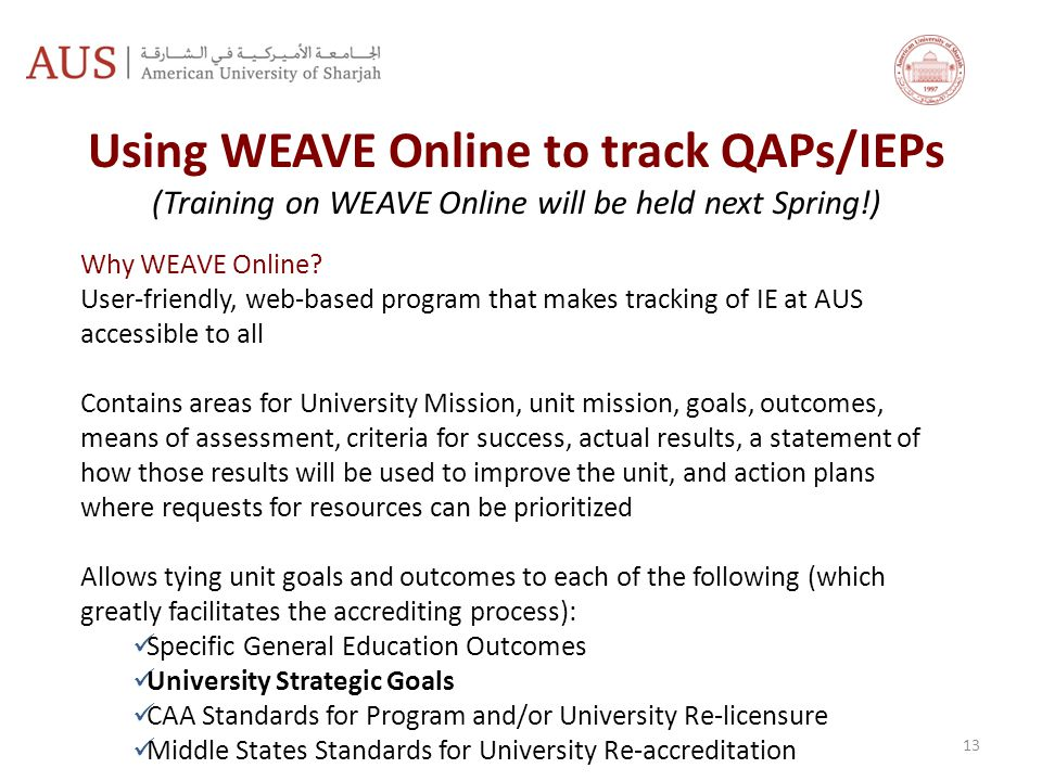 Using WEAVE Online to track QAPs/IEPs