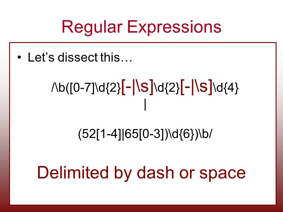 Delimited by dash or space
