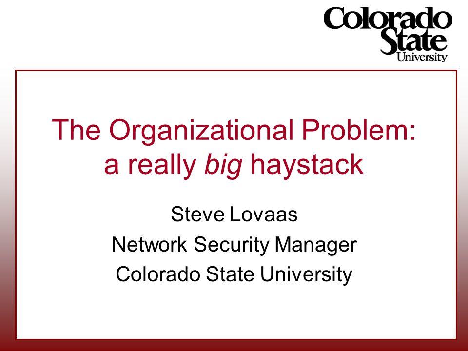 The Organizational Problem: a really big haystack