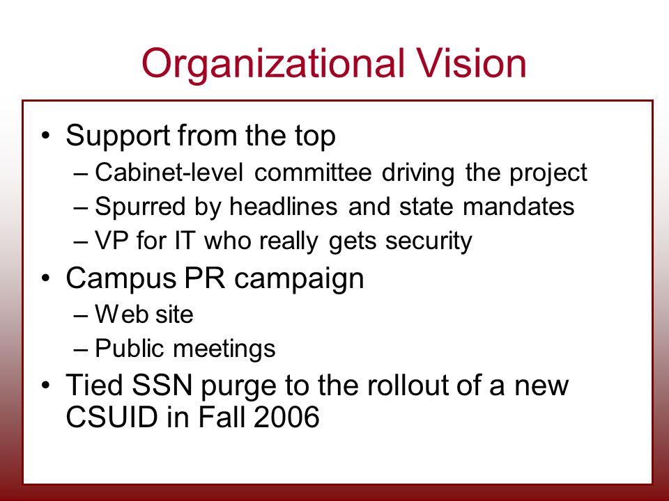 Organizational Vision
