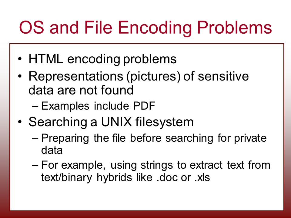 OS and File Encoding Problems