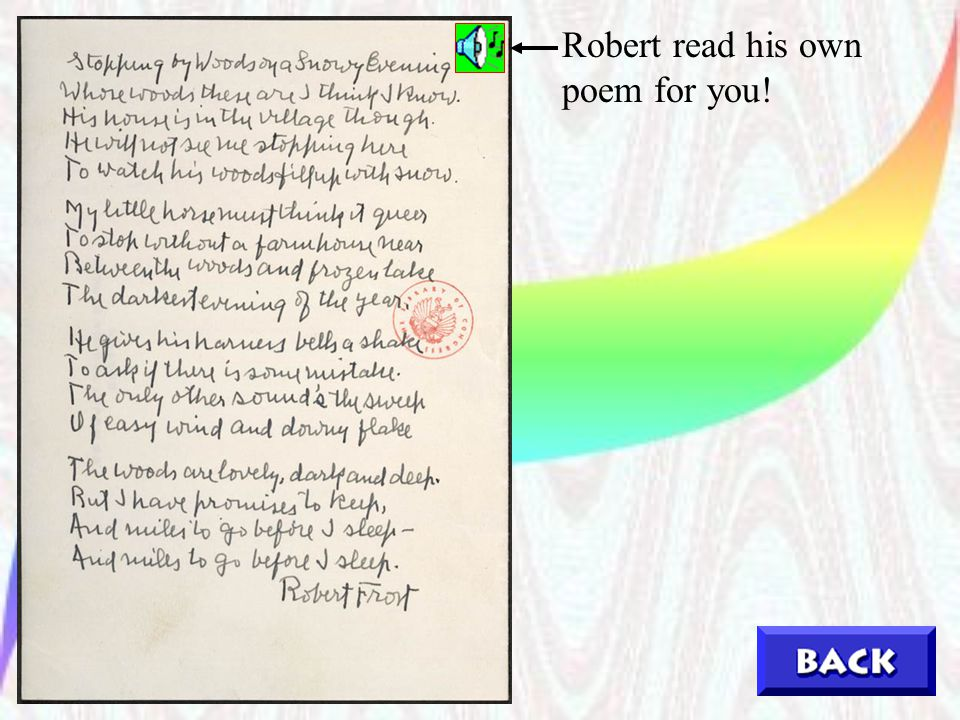 Robert read his own poem for you!