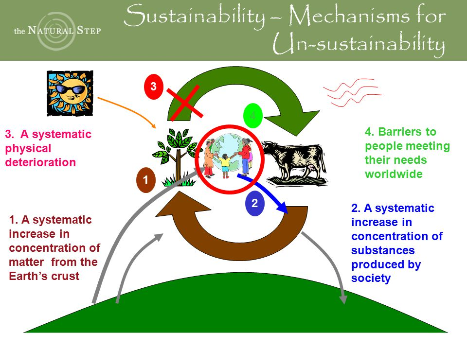 Sustainability – Mechanisms for Un-sustainability