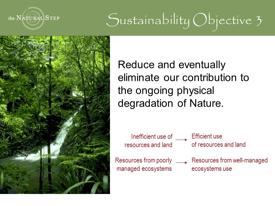 Sustainability Objective 3