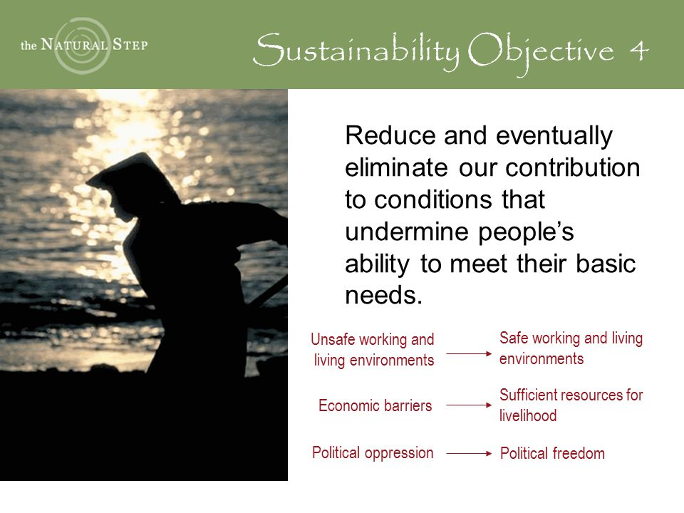 Sustainability Objective 4