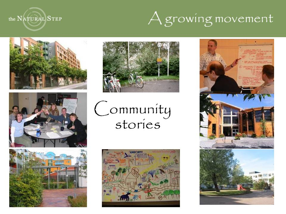 Community stories A growing movement
