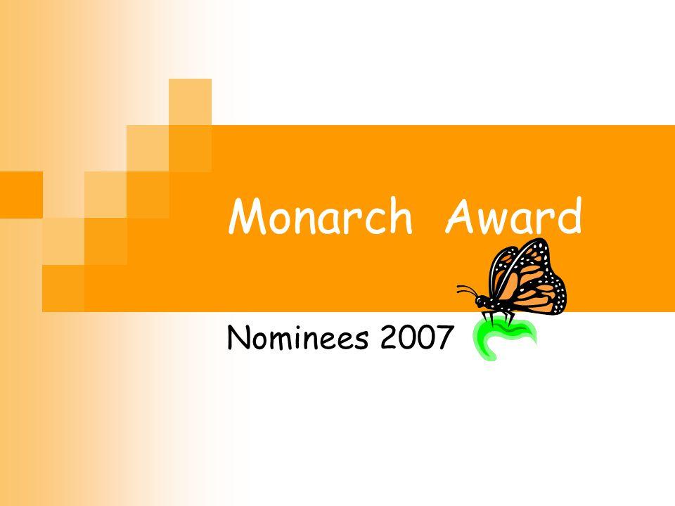 Monarch Award Nominees 2007 Twenty nominees.