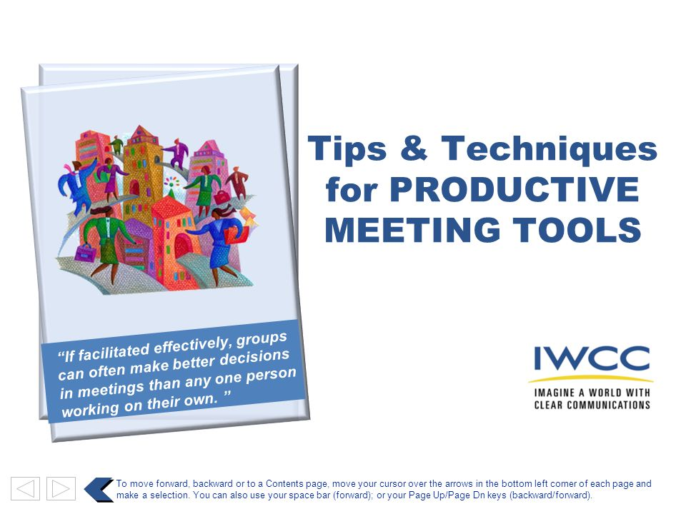 for PRODUCTIVE MEETING TOOLS