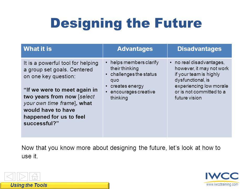 Designing the Future What it is Advantages Disadvantages