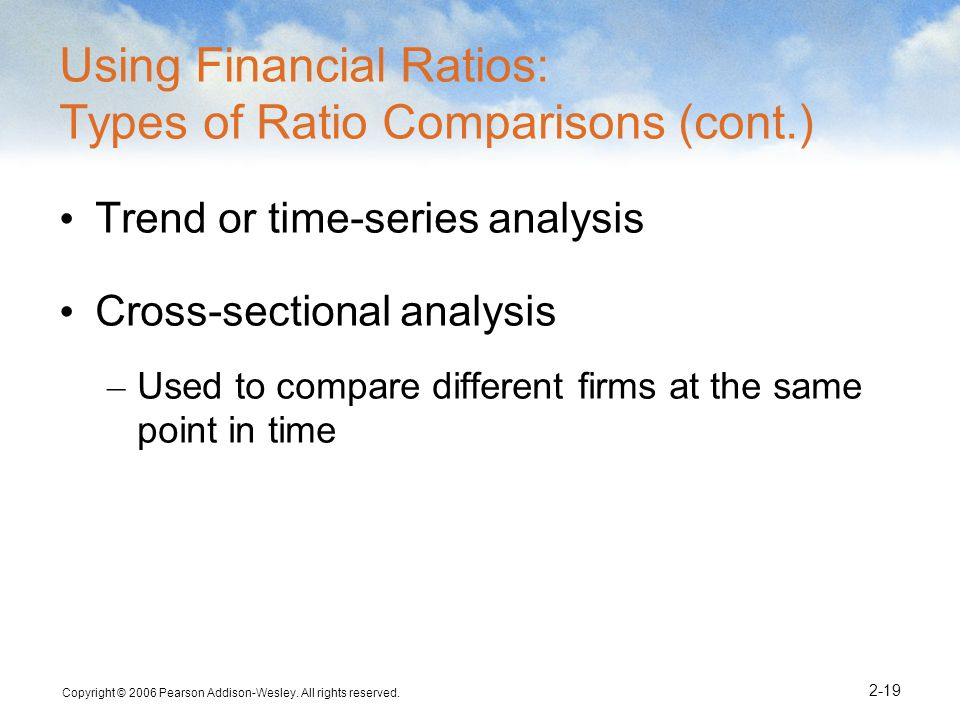 Using Financial Ratios: Types of Ratio Comparisons (cont.)