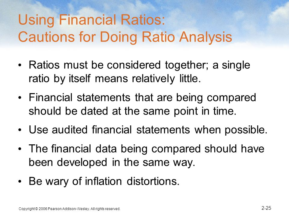 Using Financial Ratios: Cautions for Doing Ratio Analysis